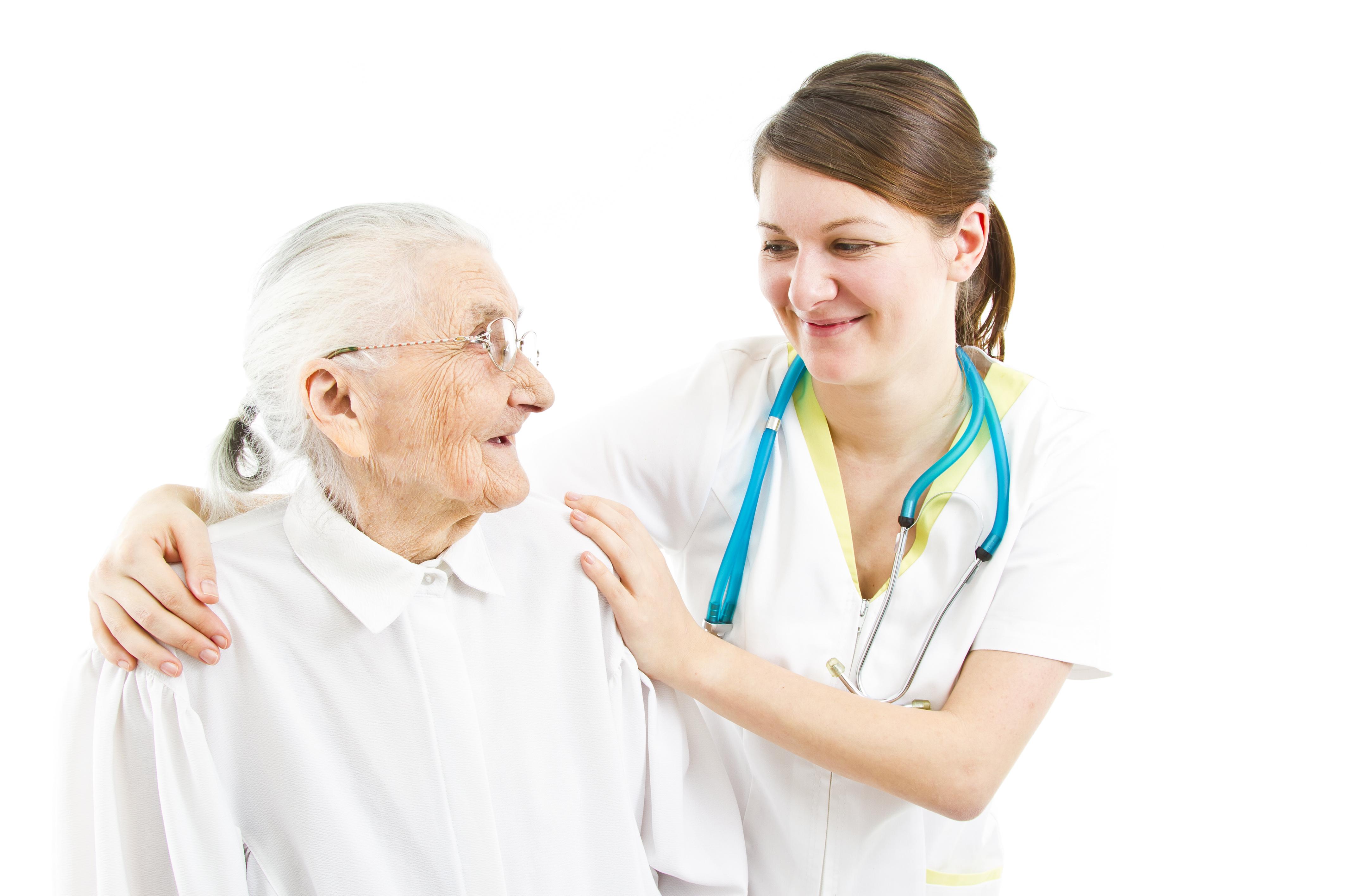 Caregiver with Senior Patient